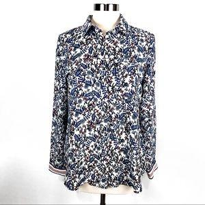NWOT Loft floral blouse M
